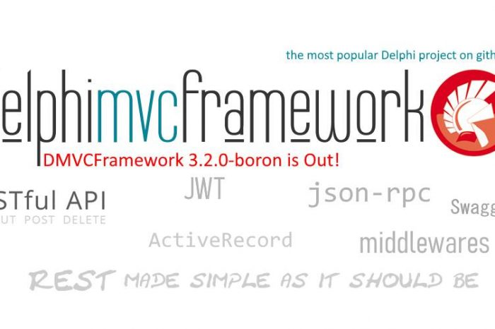 Delphi DMVCFramework 3.2.0 boron has been released